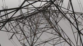 Alta tensione 33000 volt di linea struttura elettrica Immagini Stock Libere da Diritti
