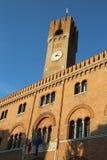 Alta torre del palazzo dei trecento nel segno di dei della piazza Fotografia Stock