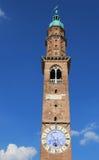 Alta torre del simbolo di Palladian della basilica della città di Vicenza i Fotografie Stock