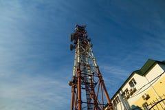 Alta torre di comunicazione Immagine Stock Libera da Diritti