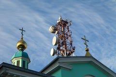 Alta torre di comunicazione Immagini Stock Libere da Diritti
