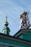 Alta torre di comunicazione Fotografia Stock Libera da Diritti