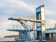 Alta torre di immersione subacquea Fotografia Stock Libera da Diritti