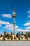 Alta torre di paracadute a Baku Boulevard Immagini Stock Libere da Diritti