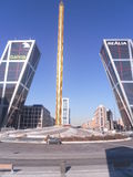 Alta torre a Madrid, Spagna Fotografia Stock