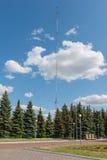 Alta torre radiofonica d'acciaio Fotografia Stock