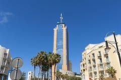 Alta torre in St.Julians, Malta di aumento Fotografia Stock Libera da Diritti