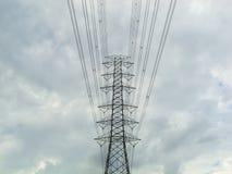 Alta trasmissione elettrica Fotografie Stock Libere da Diritti