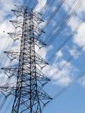 Alta trasmissione elettrica Fotografia Stock Libera da Diritti