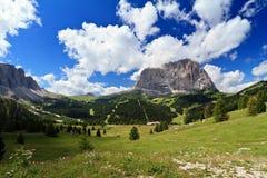 Alta valle di Gardena Fotografie Stock