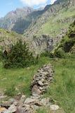Alta valle di Gveleti, montagne di Caucaso, Georgia Fotografia Stock