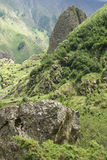 Alta valle di Gveleti, montagne di Caucaso, Georgia Fotografia Stock Libera da Diritti