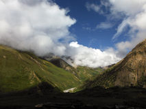 Alta valle himalayana asciutta verde Immagine Stock Libera da Diritti