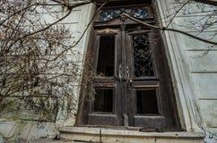 alta vecchia porta di entrata Fotografie Stock