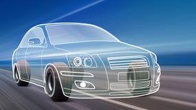 Alta velocità dell'automobile del profilo sulla strada royalty illustrazione gratis