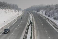 Alta velocità nell'inverno Fotografie Stock Libere da Diritti