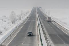 Alta velocità nell'inverno Immagine Stock
