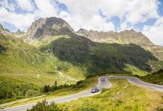 Alta via alpina di Silvretta Immagine Stock