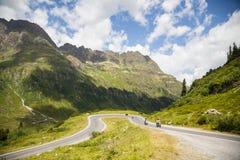 Alta via alpina di Silvretta Fotografie Stock