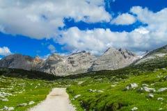 Alta Via in Dolomiet Royalty-vrije Stock Foto's
