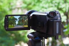 Alta videocamera portatile di definizione Immagini Stock Libere da Diritti