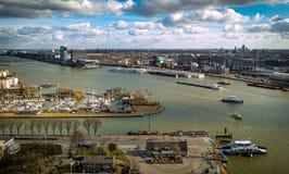 Alta visión sobre Amsterdam fotografía de archivo