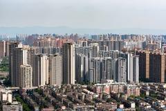 Alta vista aerea degli edifici residenziali nel distretto di est di Th Fotografia Stock Libera da Diritti