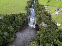 Alta vista aerea della cascata Fotografia Stock
