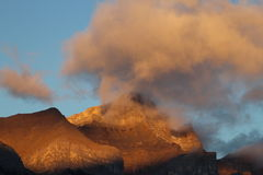 Alta vista alpina Fotografie Stock Libere da Diritti