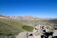 Alta vista alpina di Colorado Fotografia Stock Libera da Diritti
