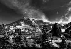 Alta Vista Cross Path. Alta Vista stop on the south side of Mt. Rainier panoramic walk Royalty Free Stock Photos