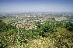 Alta vista da San Marino Immagini Stock