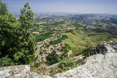 Alta vista da San Marino Fotografie Stock