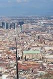 Alta vista dal centro storico di Napoli Fotografia Stock