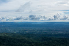Alta vista dalla montagna Fotografia Stock