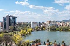 Alta vista de la ciudad de Cluj Napoca Fotografía de archivo