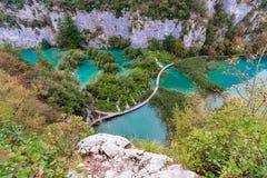 Alta vista dei laghi Plitvice Immagine Stock Libera da Diritti
