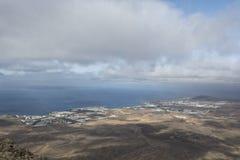 Alta vista del BLANCA di Playa dalla cima della montagna grande di Ajache Fotografia Stock Libera da Diritti