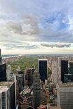 Alta vista del Central Park e dell'Upper Manhattan, New York, U.S.A. Fotografia Stock