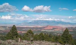 Alta vista del deserto di elevazione Immagine Stock
