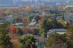 Alta vista del distretto di EIKANDO NISHIMACHI Immagini Stock Libere da Diritti