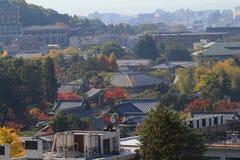 Alta vista del distretto di EIKANDO NISHIMACHI Fotografia Stock Libera da Diritti