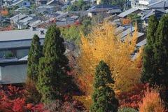 Alta vista del distretto di EIKANDO NISHIMACHI Immagini Stock