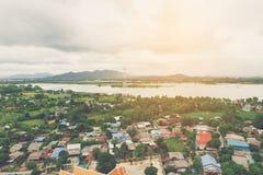 Alta vista del fiume Fotografie Stock Libere da Diritti