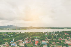 Alta vista del fiume Fotografia Stock