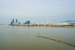 Alta vista del inVietnam della città di Da Nang Immagini Stock Libere da Diritti