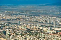 Alta vista del inVietnam della città di Da Nang Fotografia Stock Libera da Diritti