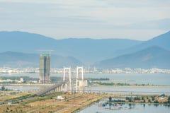 Alta vista del inVietnam della città di Da Nang Fotografia Stock