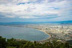 Alta vista del inVietnam della città di Da Nang Fotografie Stock Libere da Diritti
