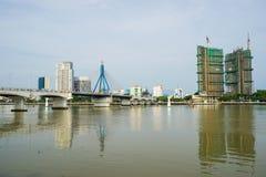 Alta vista del inVietnam della città di Da Nang Immagine Stock